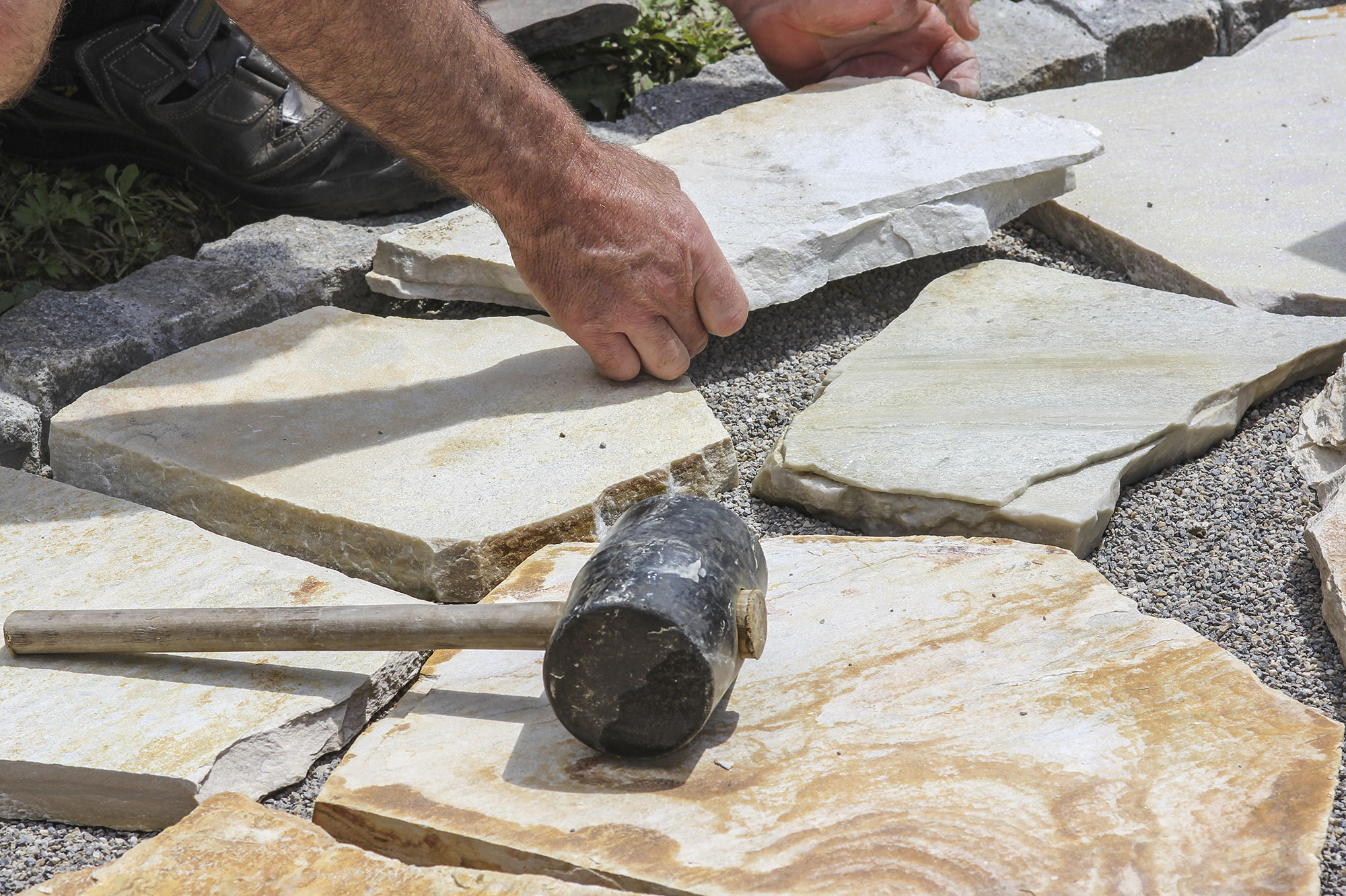 Paver-with-marble-plates